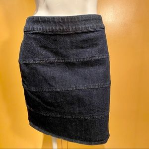 NEw York & Company dark denim mini skirt, size 10